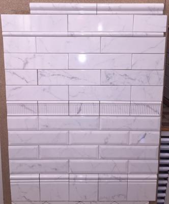 3 Quot X 12 Quot Equipe Carrara Metro Beveled Subway Tile