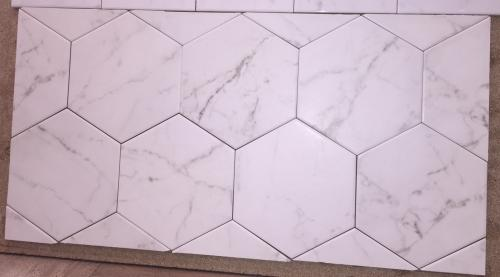 7 Quot X 8 Quot Equipe Carrara Hexagon Porcelain Matching