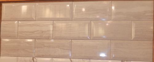 Carrara Gris Ceramic Subway Tile