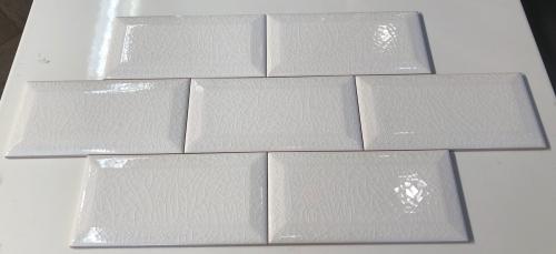 3 X 6 Adex Hampton White Beveled White Crackle