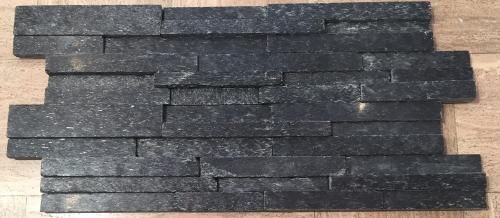 6 Quot X 24 Quot Coal Canyon Panel 3d Black Natural Stone