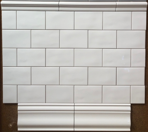 4 X 6 Deltaker White London Ceramic Subway Tile
